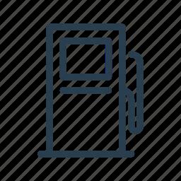 gas, gasoline, petrol, refill, station icon