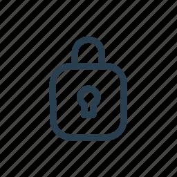 authorization, blocking, lock, password icon