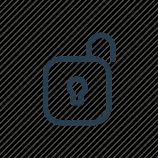 castle, lock, open, unblock, unlock icon