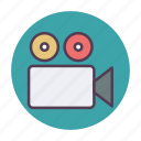 camcorder, camera, film, filmmaking, movie, production, video icon icon