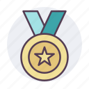 award, gold, medal, star, winner icon icon