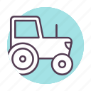 car, construction, tractor, work icon icon