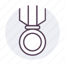 badge, first, medal, winner icon icon