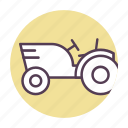 agriculture, farming, nature, tractor icon icon