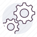 cog, gear, mechanism, setting icon icon