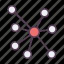 communication, molecule, social icon