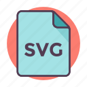 extension, file, file format, svg file icon icon