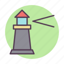 house, light, lighthouse, tower icon icon