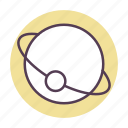 planets in space, space, spaceship icon icon