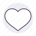 circle, dating, favorite, heart, like, love, red icon icon