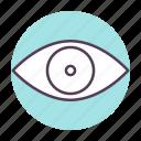 eye, eyeball, optic, optometry, retina, scan, view icon icon