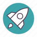 launch, rocket, ship, space, spaceship, transportation, travel icon icon