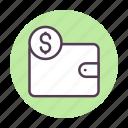 coin, finance, money, wallet icon icon