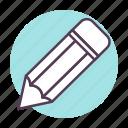 edit, pencil, schoole icon icon