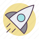 launch, rocket, science icon icon