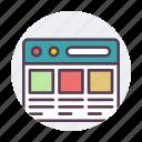 internet, page, web, website icon icon