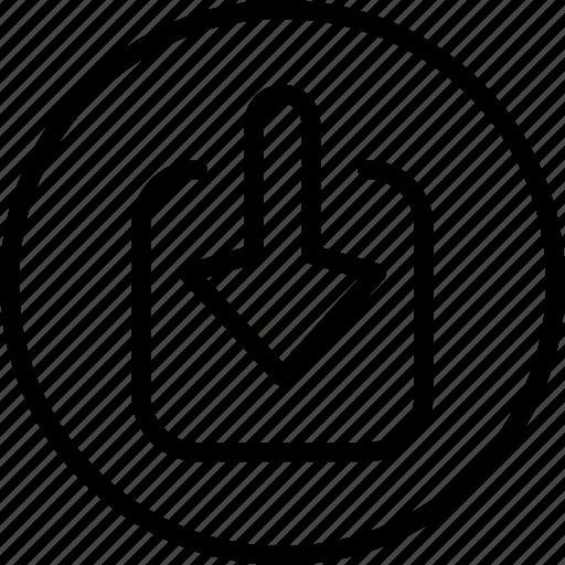 circle button, download, input, interface, programming icon