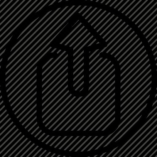 circle button, interface, output, programming, upload icon