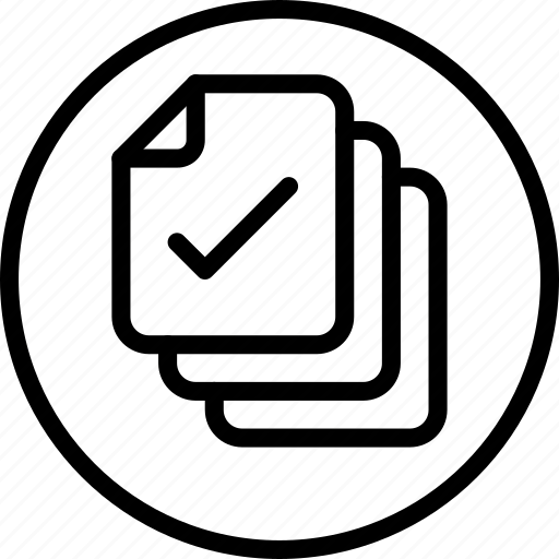 circle button, document, file, interface, paper icon