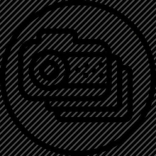 cam, camera, circle button, interface, media, photo, photography icon