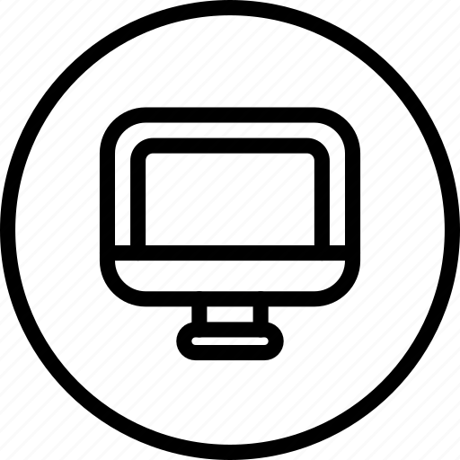 circle button, computer, device, interface, monitor, technology icon