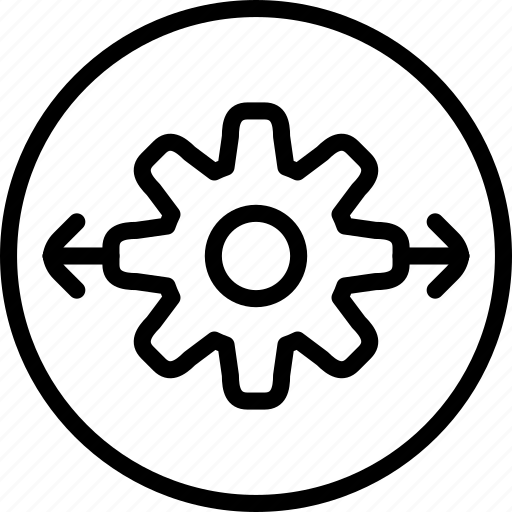 circle button, gear, interface, option, preferences, setting icon