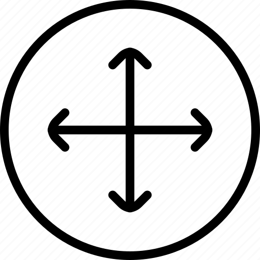 arrow, circle button, interface, scale, ui icon