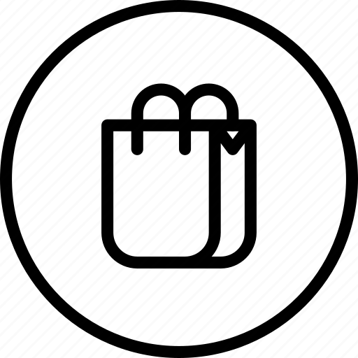 bag, circle button, ecommerce, interface, shop, shopping icon