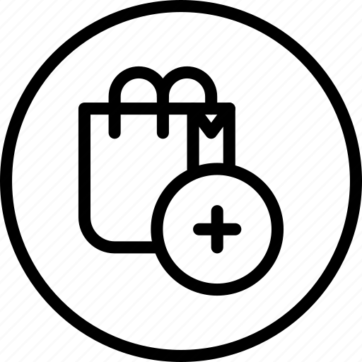 bag, circle button, commerce, interface, shop, shopping icon