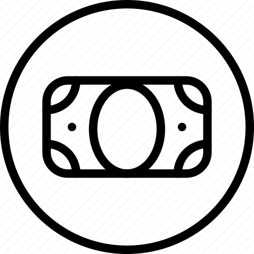 bank, cash, circle button, interface, money, payment icon