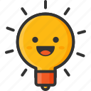awsome, bulb, creative, creativity, emoji, happy, productivity icon