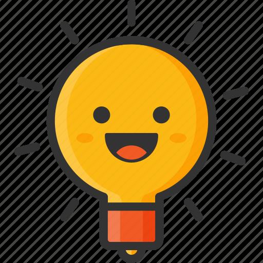 Awsome, bulb, creative, creativity, emoji, happy, productivity icon - Download on Iconfinder