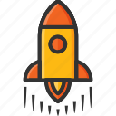 fast, fly, launch, rocket, space, speed, start icon