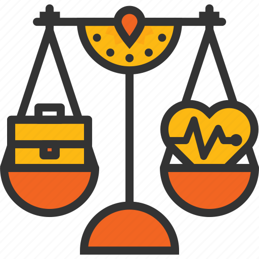 Life, scale, lifestyle, fit, work, moderation, balance icon