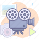 cinema, film, movie icon