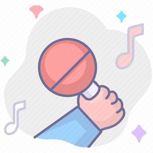 microphone, music, sing, song icon