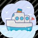 boat, ocean, sea, travel icon