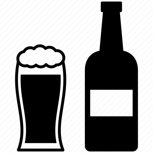 alcohol, beer, bottle, drink, glass, restaurant, wine icon