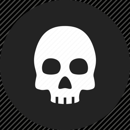 corpse, danger, death, skull icon