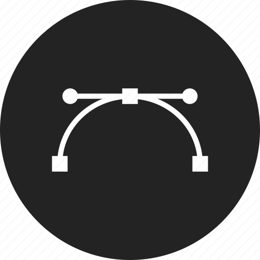 bezier, curve icon