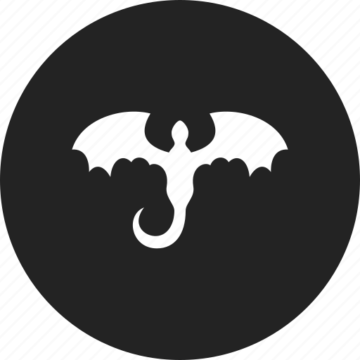 dragon, fantasy, monster, tattoo icon
