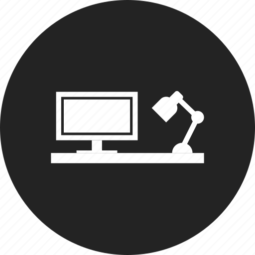 desk, office, workplace, workspace icon