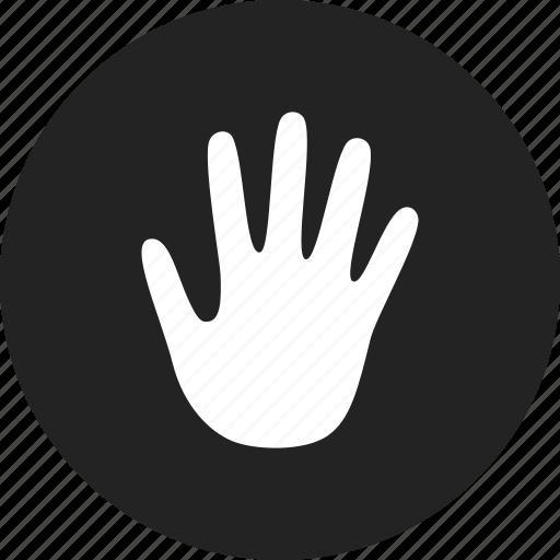 hand, no, stop, warning icon