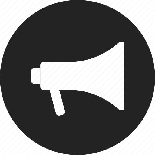 attention, loudspeaker, megaphone, share icon