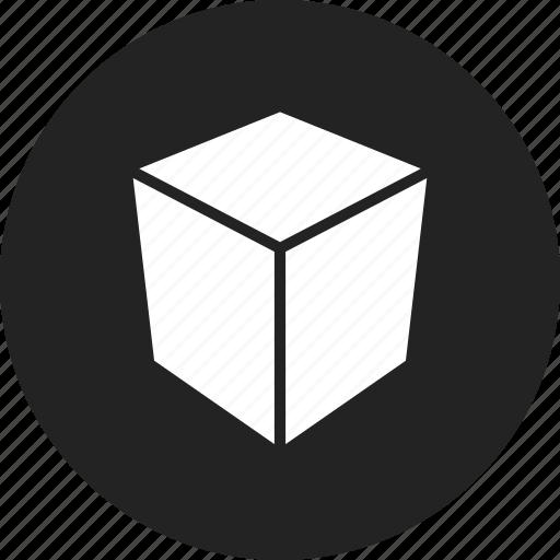 box, cube, polygon, square icon