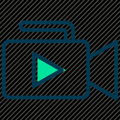 camera, media, multimedia, play, video icon