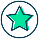 achievement, award, badge, favorite, star, winner icon