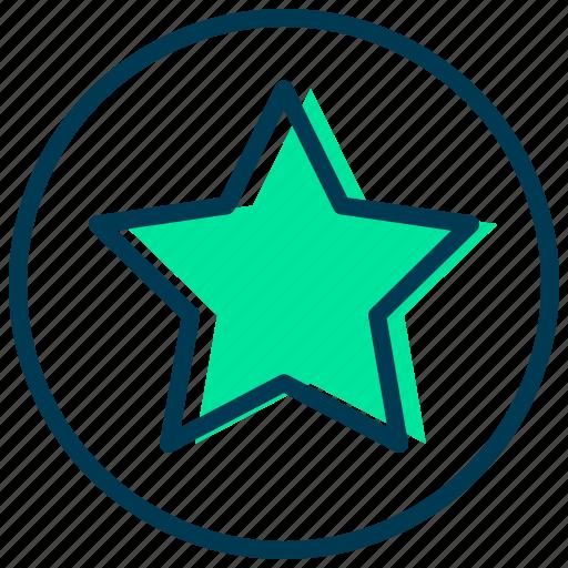 achievement, award, badge, favorite, star, winner icon