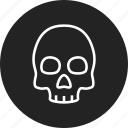corpse, danger, death, skull icon