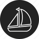 boat, sail, sailboat icon